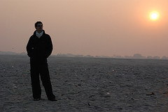 Matt at the Ganges